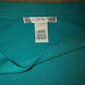 Sarah Spencer Sweaters - Sz.XXS Sarah Spencer Long Sleeve Teal Shirt